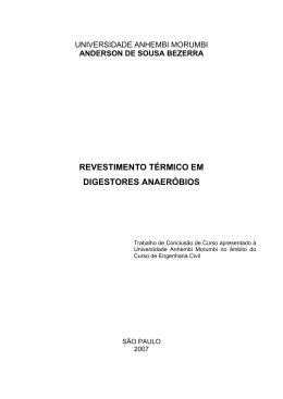revestimento térmico em digestores anaeróbios