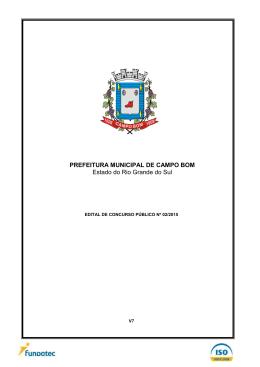 PREFEITURA MUNICIPAL DE CAMPO BOM Estado do