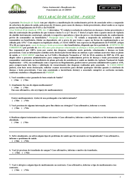 Declaração de Saúde Pasesp