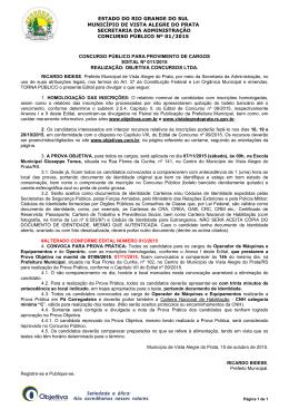 Edital nº 011/2015 - Objetiva Concursos