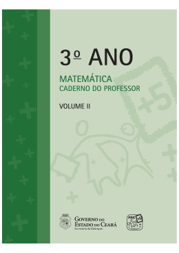 ITEM 22 CADERNO DO PROFESSOR MATEMÁTICA 3