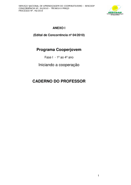 Anexo I - Caderno do Professor