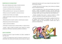 benefícios da atividade física - Prefeitura Municipal de Brumadinho