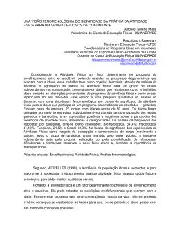 UMA VISÃO FENOMENOLÓGICA DO SIGNIFICADO DA PRÁTICA