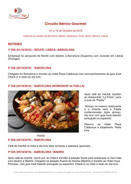 Circuito Ibérico Gourmet - Maceió