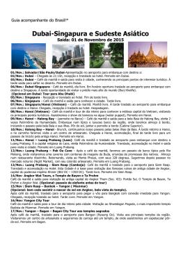 Dubai-Singapura e Sudeste Asiático