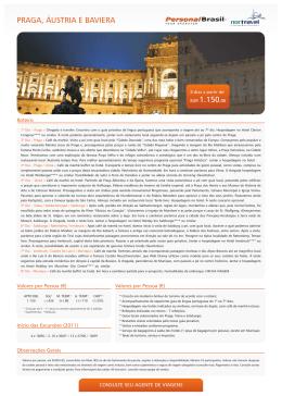 Praga, Austria e Baviera - Personal Brasil Tour Operator