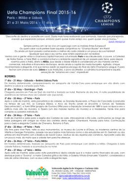 ROTEIRO: - Passaporte Valeverde