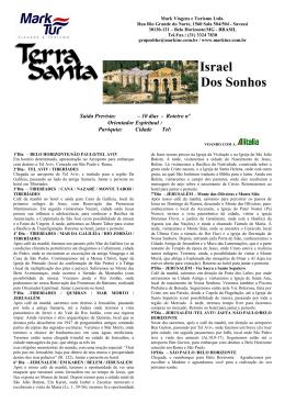 Israel dos sonhos(BHZ)