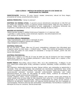 CASO CLÍNICO - PRÁTICA EM SAÚDE DO ADULTO E