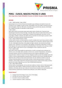 peru - Prisma - Promove Turismo, Destinos e Viagens