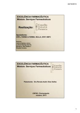 Material dos Cursos Serviços Farmacêuticos Parte 1 - CRF-AL