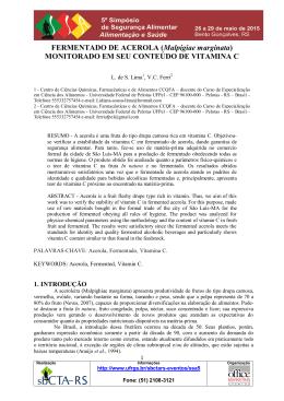 FERMENTADO DE ACEROLA (Malpigiae marginata