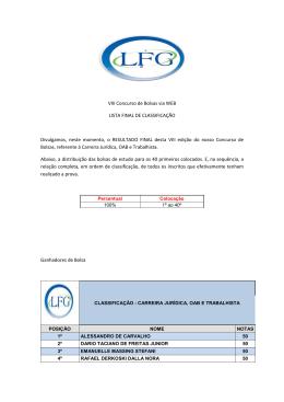 Clique aqui para acessar a lista da prova Carreira Jurídica / OAB