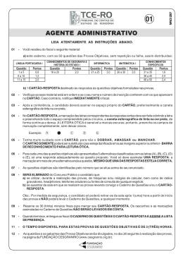 PROVA 1 - AGENTE ADMINISTRATIVO.pmd - TCE-RO