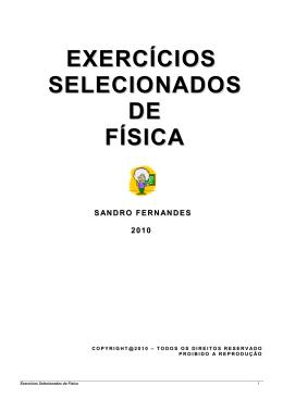 EXERCÍCIOS SELECIONADOS DE FÍSICA