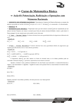 Matemática básica 2014 aula 2