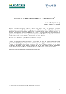1905 - Formatos de Arquivo para Preservação de Docume