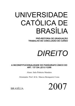 Italo Pinheiro Mandaro - Universidade Católica de Brasília