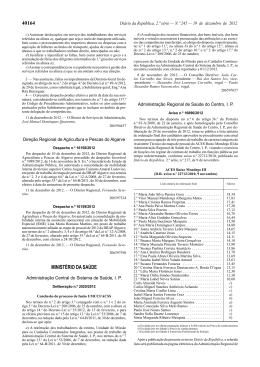 Deliberação n.º 2020/2012