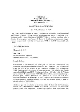 TOTVS S.A. Companhia Aberta CNPJ/MF nº 53.113.791/0001