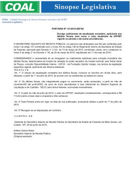 portaria n° 131/2015 - sefaz