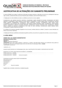 alteração - Instituto Quadrix