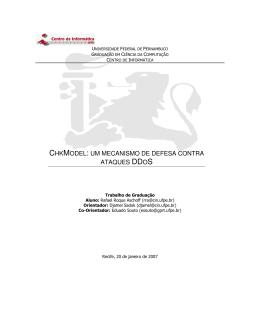 chkmodel: um mecanismo de defesa contra ataques ddos
