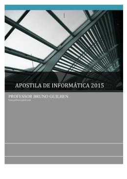 APOSTILA DE INFORMÁTICA 2015