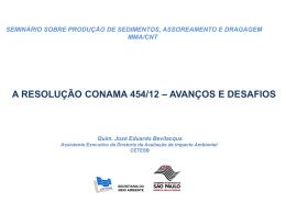A RESOLUÇÃO CONAMA 454/12 – AVANÇOS E DESAFIOS