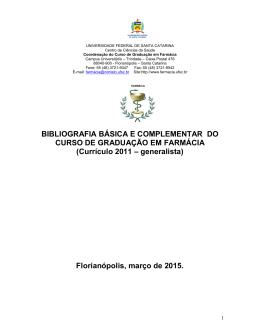 bibliografia básica e complementar 2015