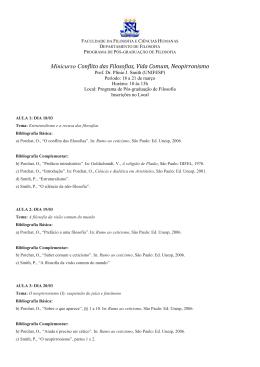 Minicurso Plinio Smith – Neopirronismo