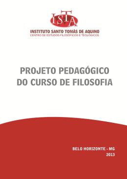 Projeto Pedagógico da Filosofia 2013