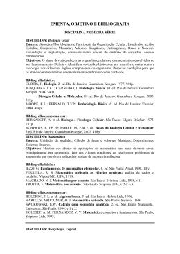 EMENTA, OBJETIVO E BIBLIOGRAFIA - Agronomia