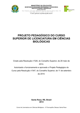 PPC Lic Ciencias Biologicas - IF Farroupilha