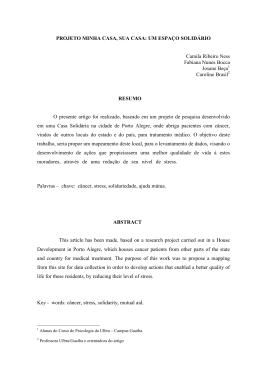 PROJETO MINHA CASA, SUA CASA: UM ESPAÇO SOLIDÁRIO