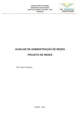 AUXILIAR DE ADMINISTRAÇÃO DE REDES PROJETO