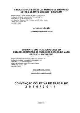 SINDICATO DOS ESTABELECIMENTOS DE ENSINO - sintrae-mt