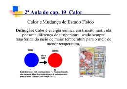 2ª Aula do cap. 19 Calor