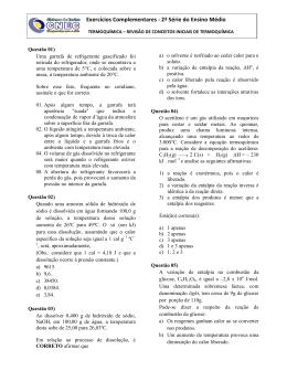 Exercícios de Termoquímica