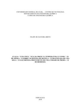 Engenharia Química - Universidade Federal do Ceará