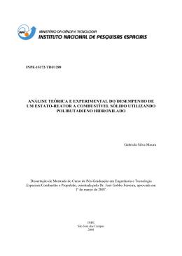 análise teórica e experimental do desempenho de um - LCP