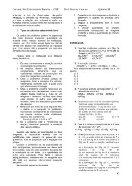 Apostila de Química II