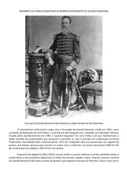Coronel - família monteiro de barros