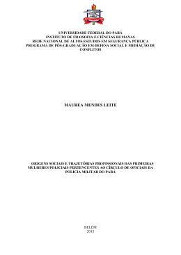 MÁUREA MENDES LEITE - Universidade Federal do Pará