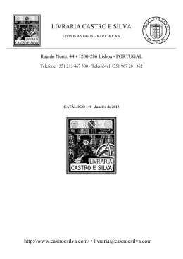 Janeiro de 2013 - Livraria Alfarrabista Castro e Silva