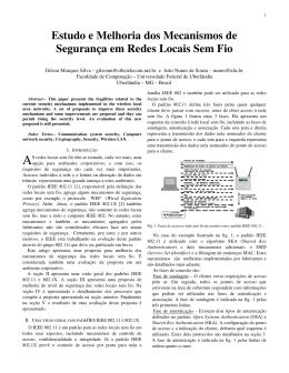 Estudo e Melhoria dos Mecanismos de Segurança em Redes