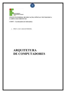 apostila versão 2 arquitetura de computadores