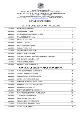 lista de candidatos matriculados candidatos classificados para espera