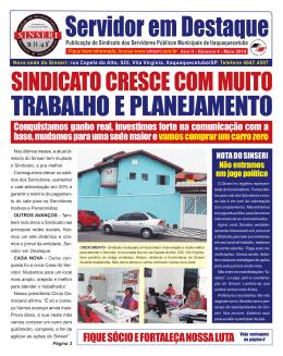 TRABALHO E PLANEJAMENTO - Sinseri